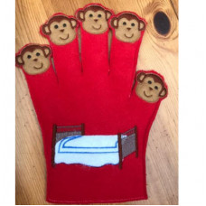5 Little Monkeys Story Glove
