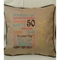 50 Birthday Wordart