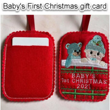 Baby's First Christmas Gift Card