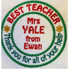 Best Teacher Rosette Badge