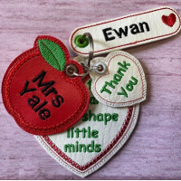 Big Heart Teacher Key Tab Set