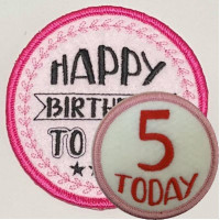 Birthday Badges/Patches with bound edges