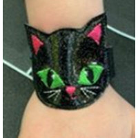 Black Cat Light Up Wrist Strap
