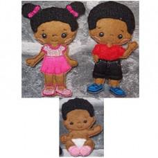 Boy, Girl and Baby Set B
