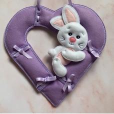 Bunny Hugger and Heart Wreath