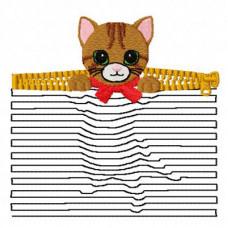 Kitten 3D Illusion Pocket