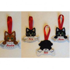 Cat and Dog pet name hangers