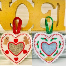 Christmas Heart Sachets