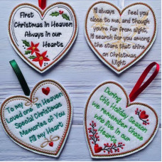 Christmas in Heaven Sentiment Hearts