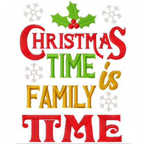 Christmas Is Family Time Christmas Wordart