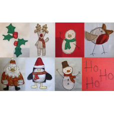 Christmas Sketch Applique