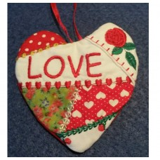 Crazy Patch Heart Hanger