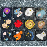 Cute Zodiac Key tab bag charms