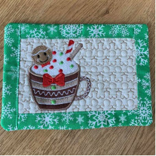 December Mug Rug and Coaster