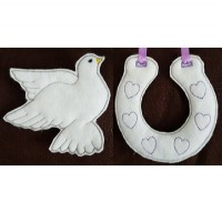 Dove and Horseshoe Hangers