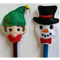 Elf and Snowman Pencil Toppers