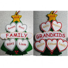 Family Christmas Tree Hanger