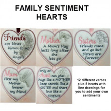 Family Sentiment Hearts
