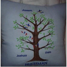 Family Tree with Birds and Bunting