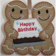 Ginger Birthday Cake Couple