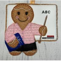Ginger Blackboard Teacher Lady