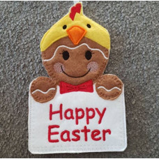 Ginger Easter Chick Gift Pocket