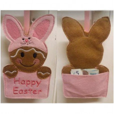 Ginger Easter Bunny Gift Pocket