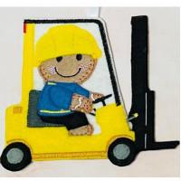 Ginger Forklift Truck Driver