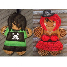 Ginger Goth Boy and Girl Set