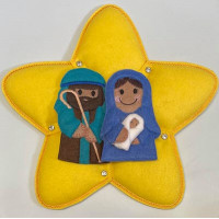 Ginger Mary and Joseph with star