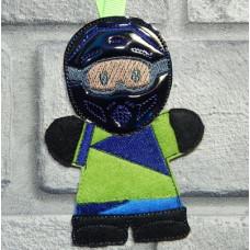 Ginger Motorcross Rider