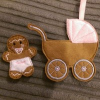 Ginger Pram And Baby