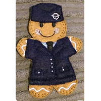 Ginger RAF Girl in Suit