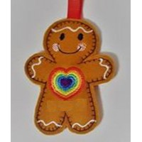 Ginger Rainbow Heart