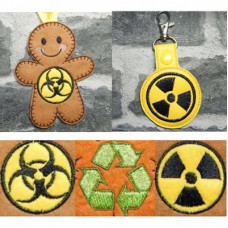 Ginger Recycling, Hazard Badges and Key Tabs