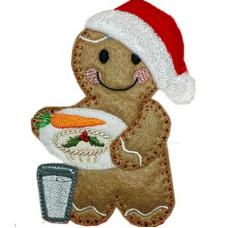 Ginger Santa Plate