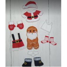 Ginger Santa Washing Line
