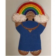 Ginger Scrubs Nurse Rainbow