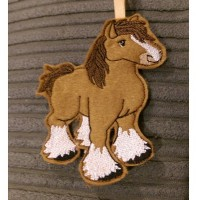 Ginger Shire Horse