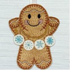 Ginger Snowflakes Garland