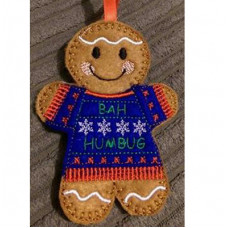 Ginger with Bah Humbug Ugly Jumper