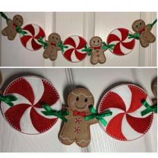 Gingerbread Man and Pinwheel Garland