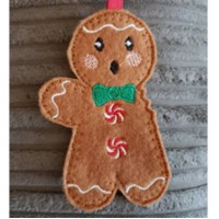 Gingerbread man with bitten arm