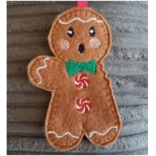 Gingerbread man with bitten arm