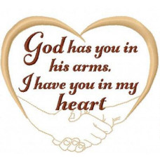 God has you in his arms