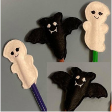Halloween Bat & Ghost Pencil Toppers