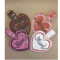Heart Beat Key Tabs - Mum and Love