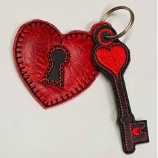 Heart Padlock and Key