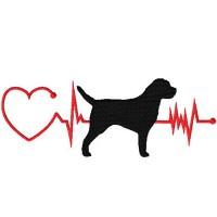 Heartbeat Dog - Border Terrier