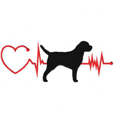 Heartbeat Dog - Border Terrier